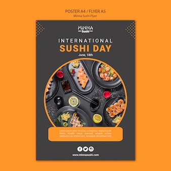 Poster for international sushi day