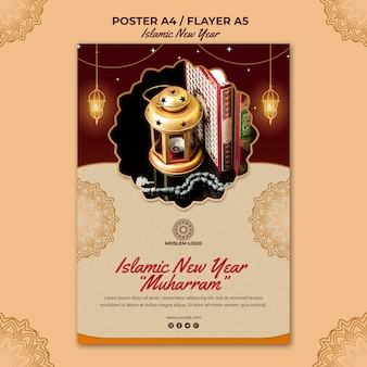 Poster islamic new year template