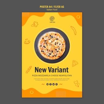 Poster per il bistrot alimentare italiano