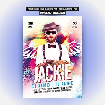 Poster for a jackie party