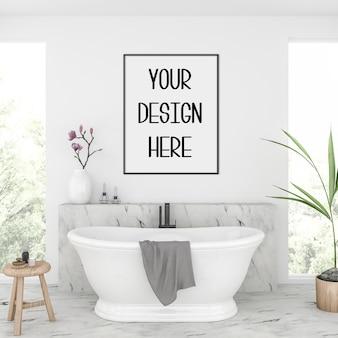 Макет плаката, интерьер ванной комнаты