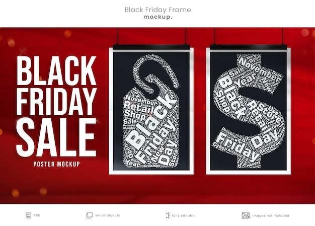 Poster mockup for black friday marketing campaign