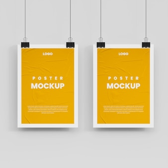 Poster mockup isolated