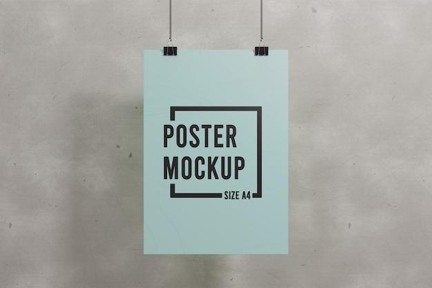 Макет постера в стиле минимализм