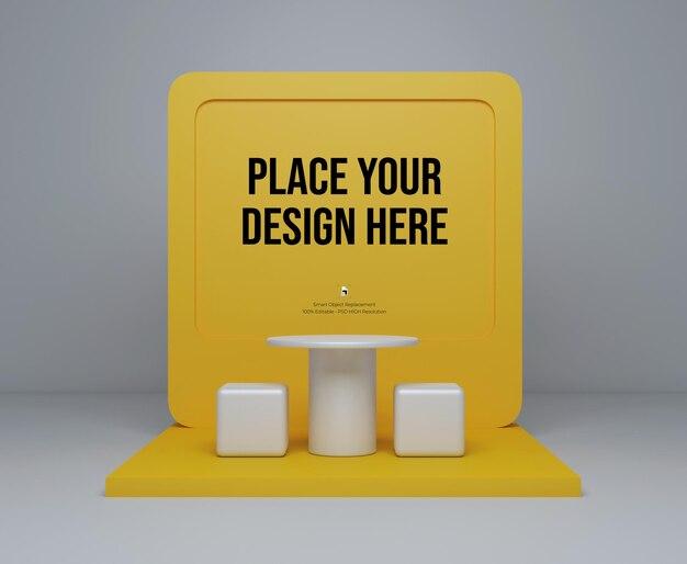 현대적인 디자인 렌더링 포스터 모형