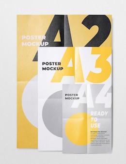 Mockup di poster in varie dimensioni