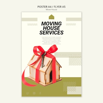 Poster for moving house services