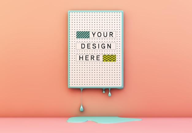 溶融フレームモックアップのポスター