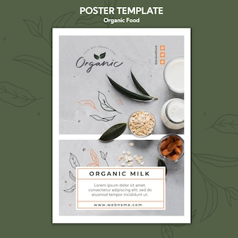 Poster organic food template