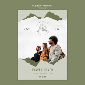Poster for outdoors traveling
