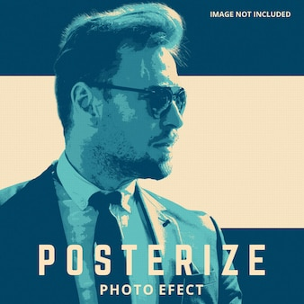 Poster photo effect template
