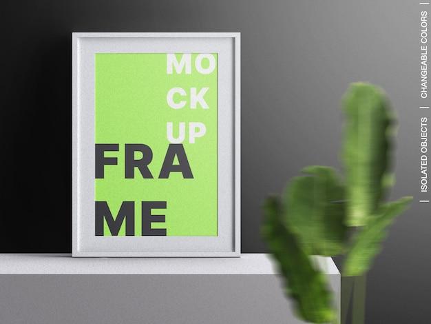 고립 된 식물 장식 포스터 사진 프레임 캔버스 인테리어 모형