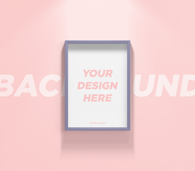 Poster or photo frame wall mockup