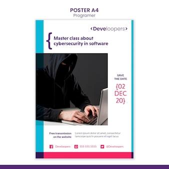 Шаблон рекламного плаката программиста