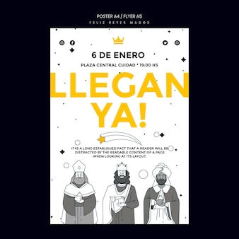 포스터 reyes magos 템플릿