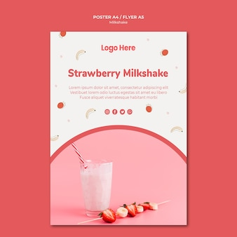 Poster for strawberry milkshake