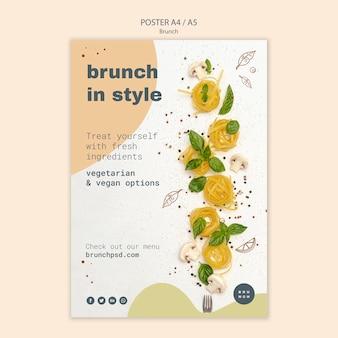 Stile poster per un delizioso brunch