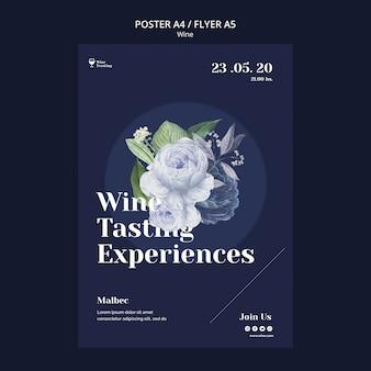 Poster style wine tasting