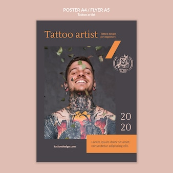 Poster for tattoo artist
