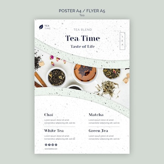Poster template for aromatic herbal tea