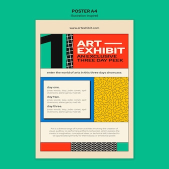Poster template for art exhibition