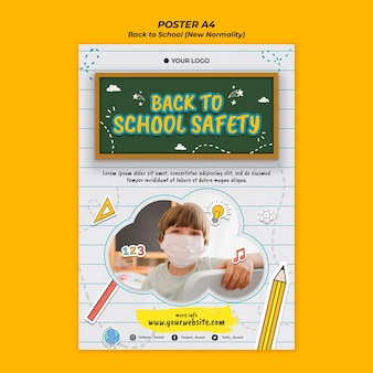 Poster template for back to school season