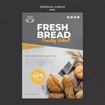 Poster template for bakery shop