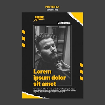 Poster template for barber shop business