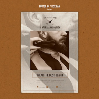 Poster template for barber shop