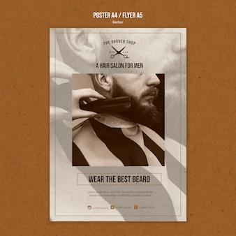 Modello di poster per barbiere