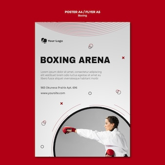 Poster template for boxing training