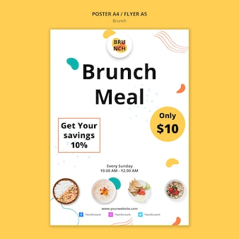 Poster template for brunch