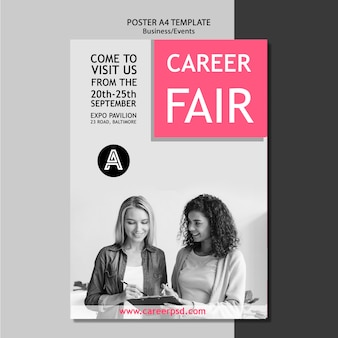 Poster template for business career fair