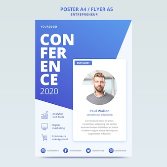 Poster template for business conference