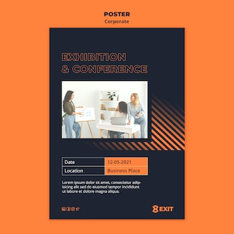 Poster template for business corporation