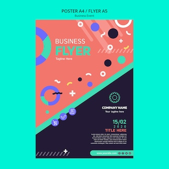 Poster template for business event