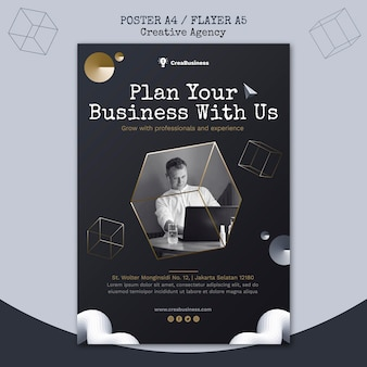 Poster template for business partnering company