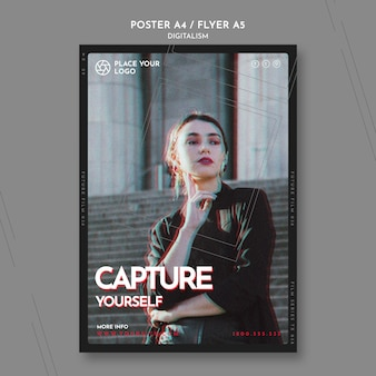 Poster template for capture yourself theme