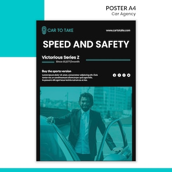 Poster template car agency ad
