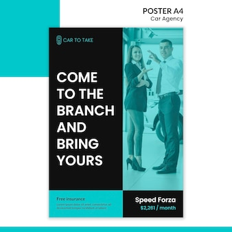 Poster template car agency