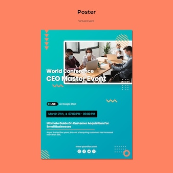 Poster template for ceo master event conference