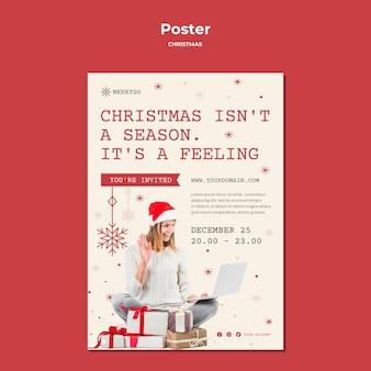 Modello di poster per la vendita di natale