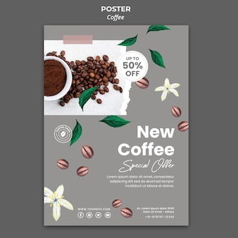 Poster template for coffee