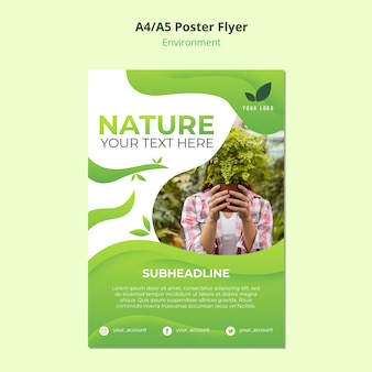 Poster template concept of nature