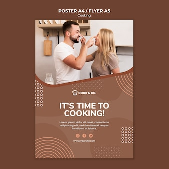 Poster template cooking at home