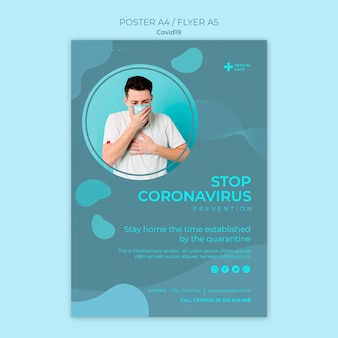 Poster template for coronavirus prevention