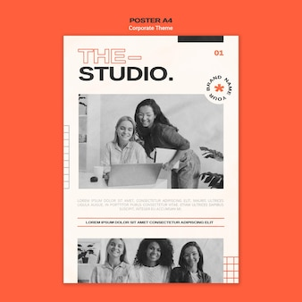 Poster template for corporate studio