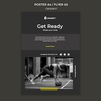 Poster template for crossfit exercise