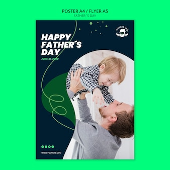 Poster template design for fathers day event