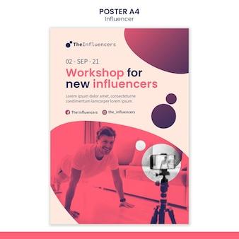Postertemplate design for influencers